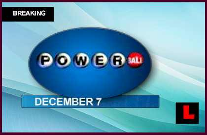 Powerball Winning Numbers December 7, 2013 12-7-13 Results Tonight Revealed