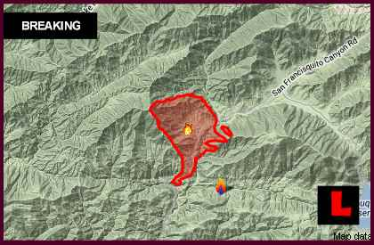 Powerhouse Fire Santa Clarita Map Today 2013 Depicts New Spread