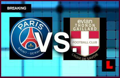 PSG vs. Evian TG 2014 Score Prompts Ligue 1 Table Battle live soccer results today