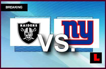 Raiders vs. Giants 2013: Taylor Scores on Blocked Punt live score results channel today game