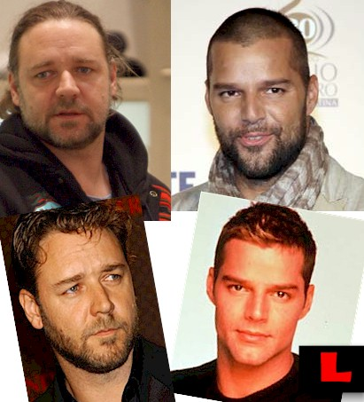 Ricky Martin and Russell Crowe look like they need to Call Kirstie!