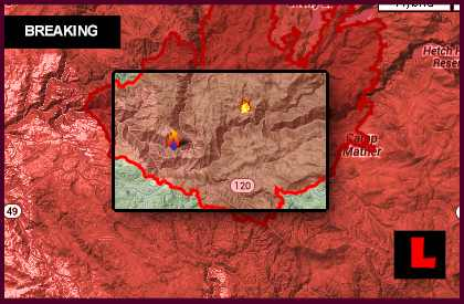 Rim Fire Map 2013: Yosemite Fire Prompts New Groveland Orders Today l