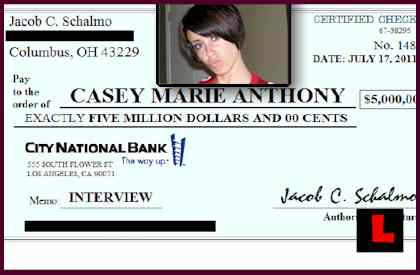 Schalmo Productions, Jacob C Schalmo Offer Casey Anthony $5 Million