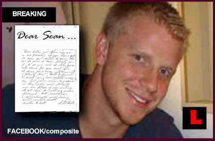 Sean Lowe Letter at Final Rose Prompts Authors Visit