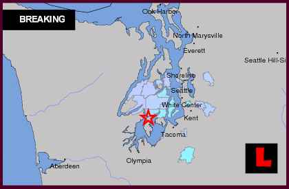 Washington Earthquake Today 2013 Strikes South of Seattle