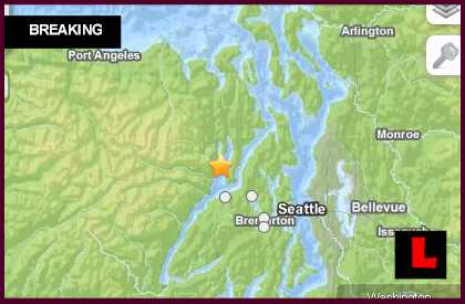 Washington Earthquake Today 2013 Strikes Near Seattle