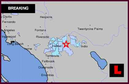 Southern California Earthquake Today 2012 Strikes South of Palm Springs