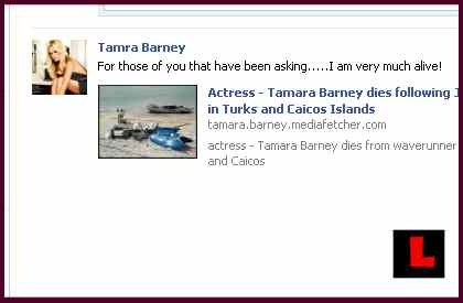 Tamra Barney Not Dead - False Jet Ski Death Crashes Rocks OC