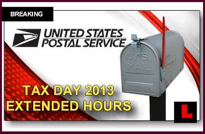 Post Office Tax Day Hours Get Extended for Mailing Returns 2013 late