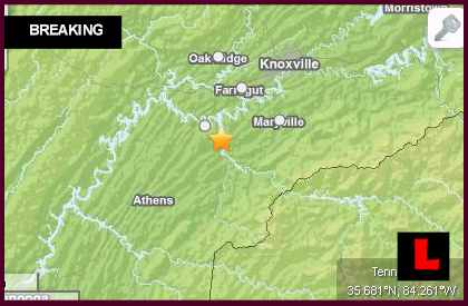 Tennessee Earthquake Today 2014 Strikes North of Georgia