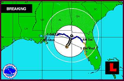 Tropical Storm Debby Projected Path Prompts Florida Tornado in Fernandina Beach