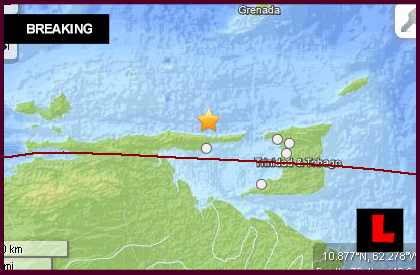 Venezuela Earthquake Today 2013 Strikes Trinidad and Tobago