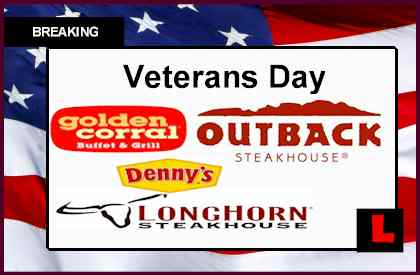 Golden Corral Veterans Day Meal Salute Joined by LongHorn, Outback free meals deals