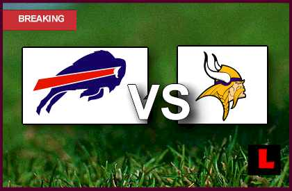 Vikings vs Bills 2013 live score results tonight