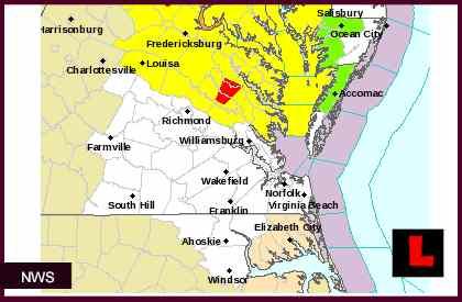 Virginia Tornado Warning Issued Today As Manassas Storm Grows