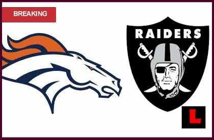 what channel is the Broncos vs. Raiders 2012 game on tonight live score