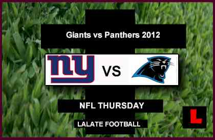 what channel is the Giants vs. Panthers game on tonight Channel 2012: Eli Manning Battles Cam Newton